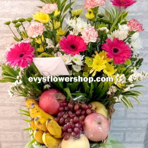 FB1, fruit basket, flowers and fruits basket, hamper, flower delivery, flower delivery philippines