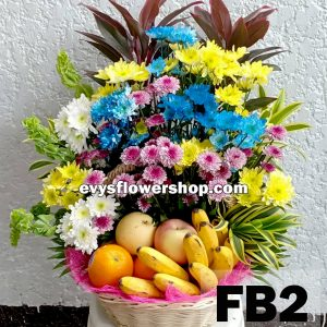 FB2, fruit basket, flowers and fruits basket, hamper, flower delivery, flower delivery philippines