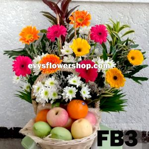 FB3, fruit basket, flowers and fruits basket, hamper, flower delivery, flower delivery philippines