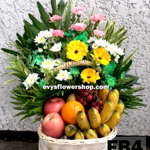 FB4, fruit basket, flowers and fruits basket, hamper, flower delivery, flower delivery philippines