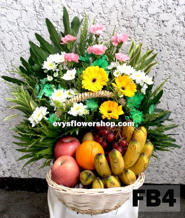 FB4, fruit basket, flowers and fruits basket, hamper, flower delivery, flower delivery philippines
