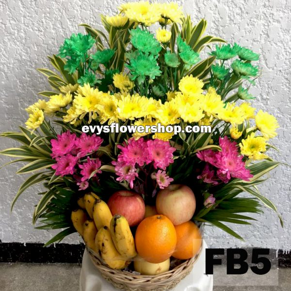 FB5, fruit basket, flowers and fruits basket, hamper, flower delivery, flower delivery philippines
