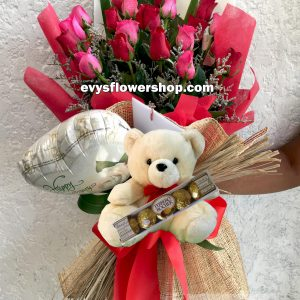 FC1, bouquet of roses, combo, package, bouquet, flower delivery, flower delivery philippines