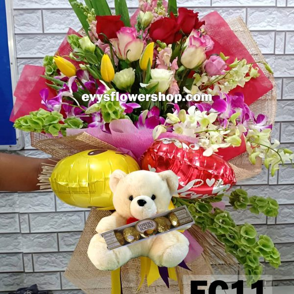 FC11, bouquet of mixed flowers, combo, package, bouquet, flower delivery, flower delivery philippines