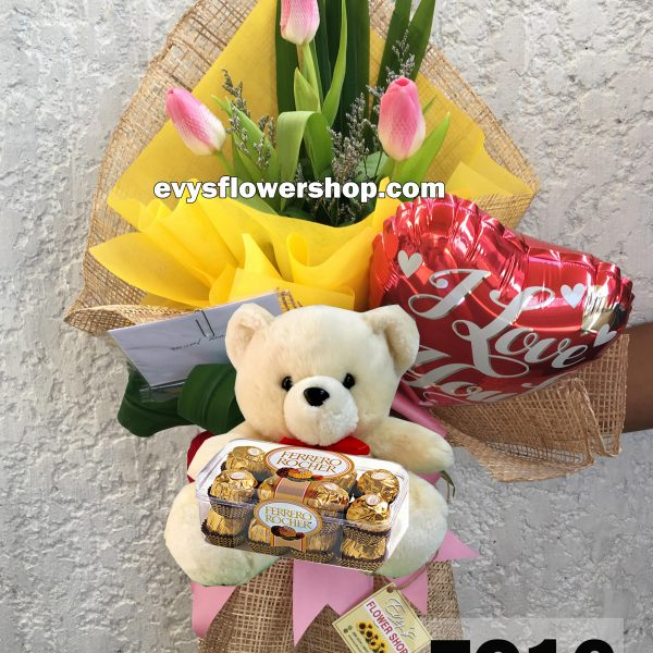 FC16, bouquet of tulips, combo, package, bouquet, flower delivery, flower delivery philippines