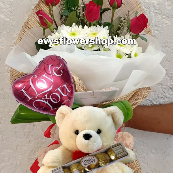 FC18, bouquet of roses, combo, package, bouquet, flower delivery, flower delivery philippines
