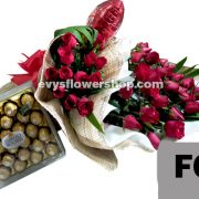 FC5, bouquet of roses, combo, package, bouquet, flower delivery, flower delivery philippines