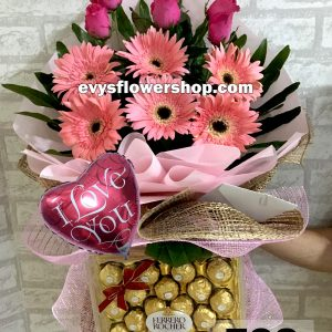 FC8, bouquet of roses, combo, package, bouquet, flower delivery, flower delivery philippines