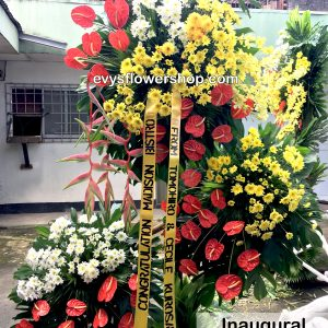 inaugural flower stand 1, inaugural flowers stand, inauguration, opening flowers stand, ribbon cutting flowers stand, flower delivery, flower delivery philippines