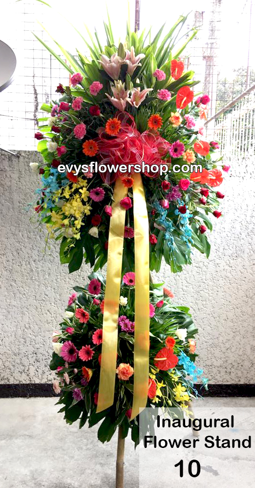 inaugural flower stand 10, inaugural flowers stand, inauguration, opening flowers stand, ribbon cutting flowers stand, flower delivery, flower delivery philippines