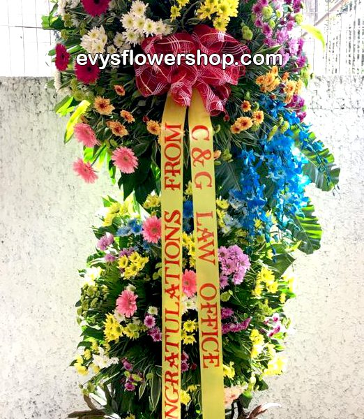 inaugural flower stand 2, inaugural flowers stand, inauguration, opening flowers stand, ribbon cutting flowers stand, flower delivery, flower delivery philippines