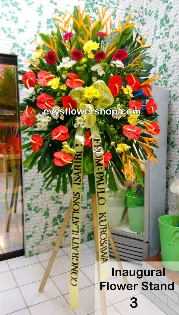 inaugural flower stand 3, inaugural flowers stand, inauguration, opening flowers stand, ribbon cutting flowers stand, flower delivery, flower delivery philippines