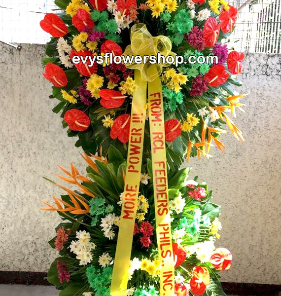 inaugural flower stand 4, inaugural flowers stand, inauguration, opening flowers stand, ribbon cutting flowers stand, flower delivery, flower delivery philippines