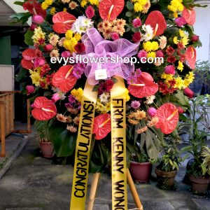 inaugural flower stand 6, inaugural flowers stand, inauguration, opening flowers stand, ribbon cutting flowers stand, flower delivery, flower delivery philippines