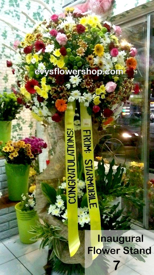 inaugural flower stand 7, inaugural flowers stand, inauguration, opening flowers stand, ribbon cutting flowers stand, flower delivery, flower delivery philippines