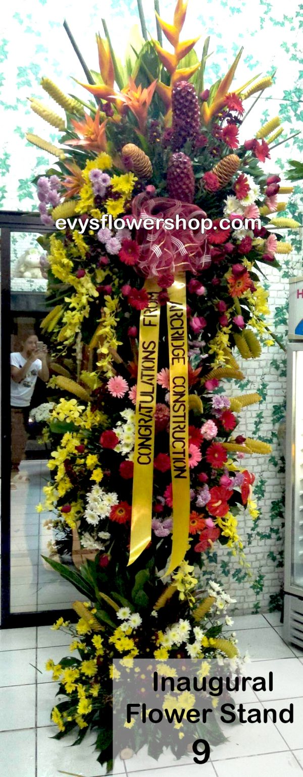 inaugural flower stand 9, inaugural flowers stand, inauguration, opening flowers stand, ribbon cutting flowers stand, flower delivery, flower delivery philippines