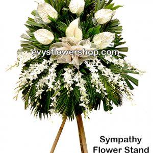 sympathy flower stand 10