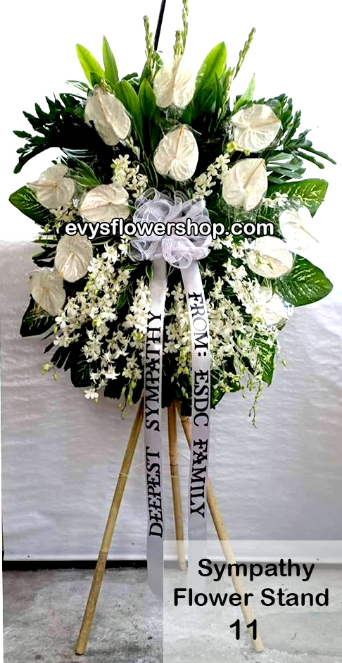 sympathy flower stand 11
