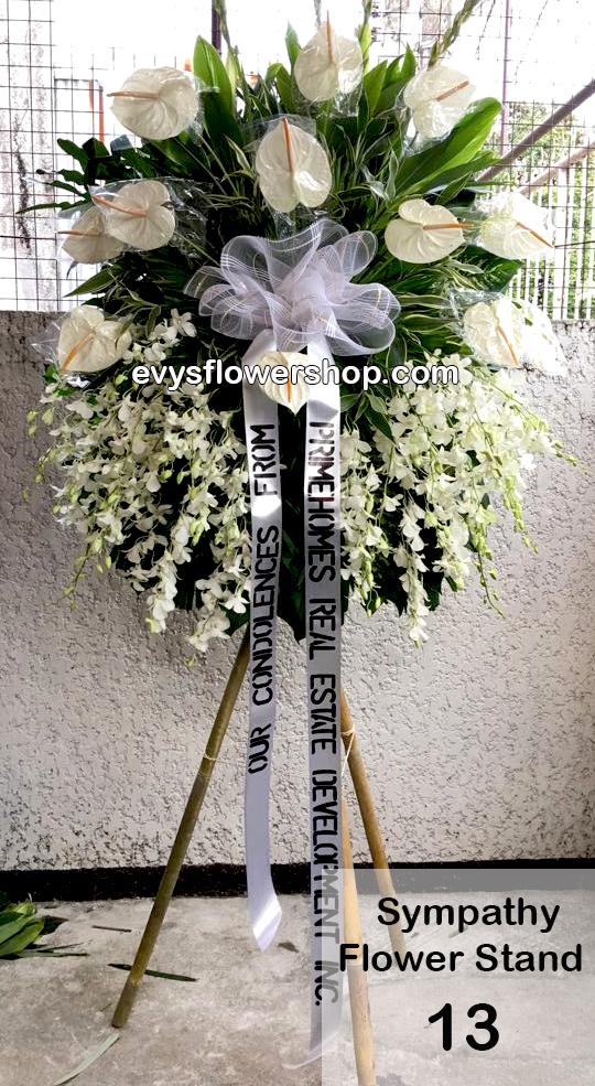 sympathy flower stand 13