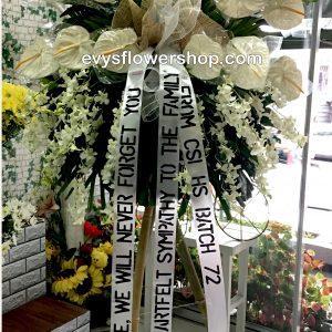 sympathy flower stand 4