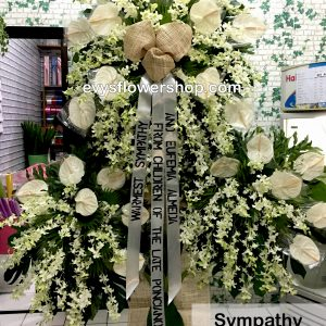 sympathy flower stand 8