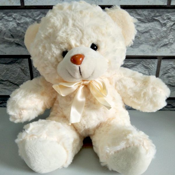 6 inches off white teddy bear