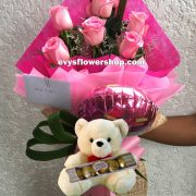 FC32, bouquet of imported roses, combo, package, bouquet, flower delivery, flower delivery philippines
