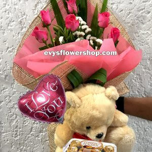 FC35, bouquet of roses, combo, package, bouquet, flower delivery, flower delivery philippines