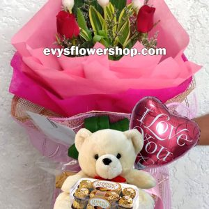 FC37, bouquet of tulips, combo, package, bouquet, flower delivery, flower delivery philippines