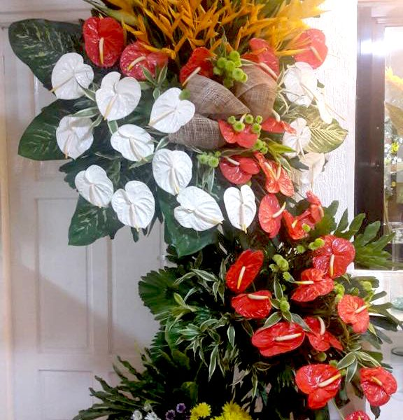 inaugural flower stand 12, inaugural flowers stand, inauguration, opening flowers stand, ribbon cutting flowers stand, flower delivery, flower delivery philippines
