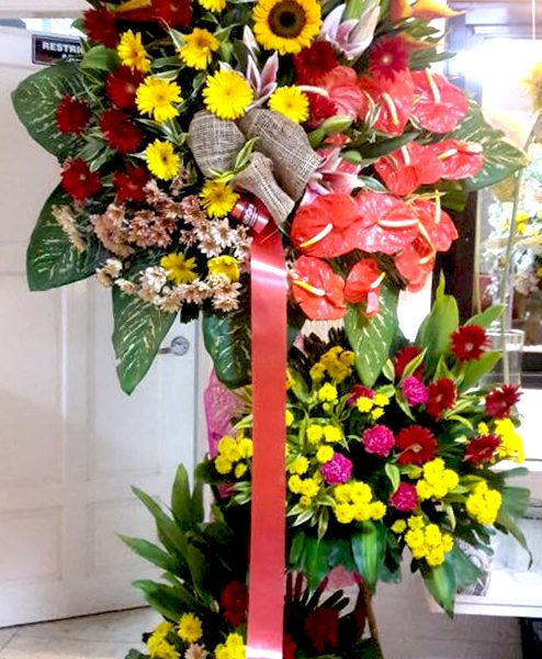 inaugural flower stand 14, inaugural flowers stand, inauguration, opening flowers stand, ribbon cutting flowers stand, flower delivery, flower delivery philippines