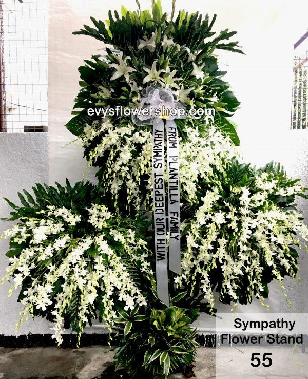 sympathy flower stand 55
