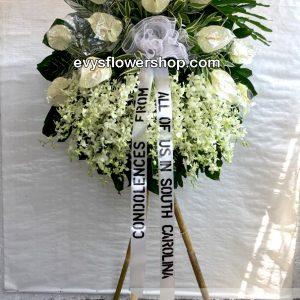 sympathy flower stand 57