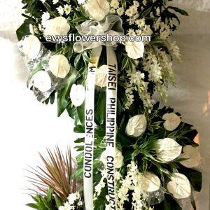 sympathy flower stand 58