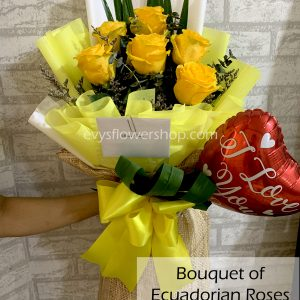 bouquet of ecuadorian roses 12, bouquet of ecuadorian roses, ecuadorian roses, bouquet, flower delivery, flower delivery philippines