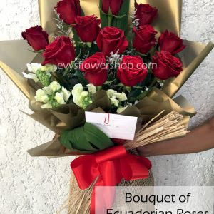 bouquet of ecuadorian roses 2, bouquet of ecuadorian roses, ecuadorian roses, bouquet, flower delivery, flower delivery philippines