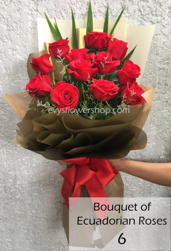 bouquet of ecuadorian roses 6, bouquet of ecuadorian roses, ecuadorian roses, bouquet, flower delivery, flower delivery philippines