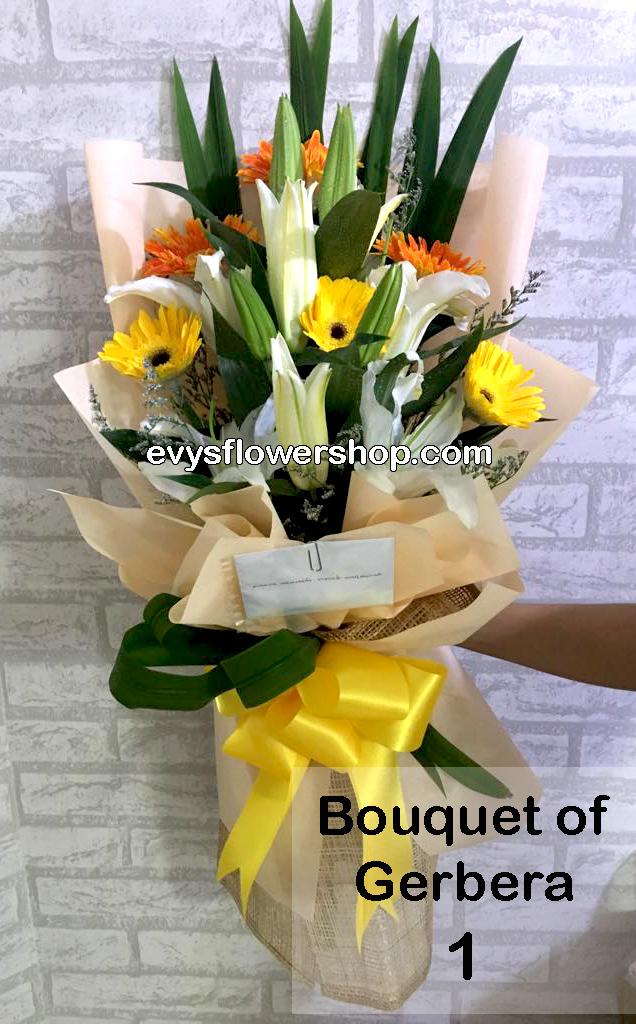 bouquet of gerbera 1, bouquet of gerbera, gerbera, bouquet, flower delivery, flower delivery philippines