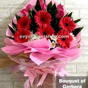 bouquet of gerbera 10, bouquet of gerbera, gerbera, bouquet, flower delivery, flower delivery philippines