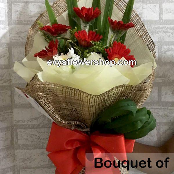 bouquet of gerbera 4, bouquet of gerbera, gerbera, bouquet, flower delivery, flower delivery philippines