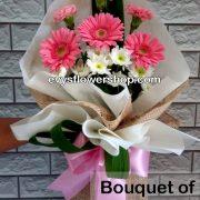 bouquet of gerbera 6, bouquet of gerbera, gerbera, bouquet, flower delivery, flower delivery philippines