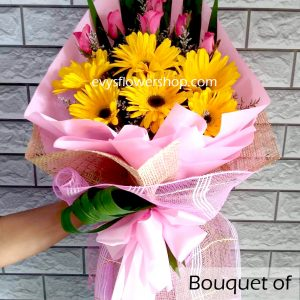 bouquet of gerbera 8, gerbera, bouquet of gerbera, bouquet, flower delivery, flower delivery philippines