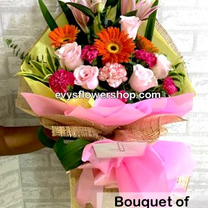 bouquet of mixed flowers 1, bouquet of mixed flowers, spring flowers, bouquet, flower delivery, flower delivery philippines