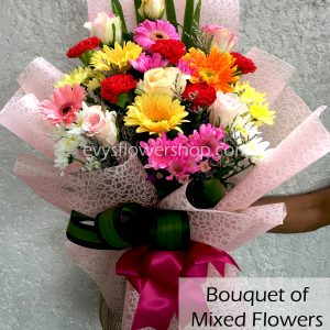 bouquet of mixed flowers 12, bouquet of mixed flowers, spring flowers, bouquet, flower delivery, flower delivery philippines