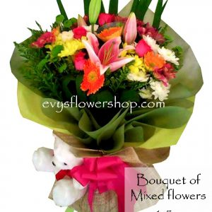 bouquet of mixed flowers 15, bouquet of mixed flowers, spring flowers, bouquet, flower delivery, flower delivery philippines