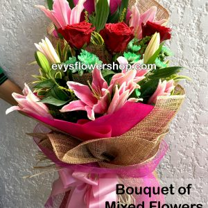 bouquet of mixed flowers 16, bouquet of mixed flowers, spring flowers, bouquet, flower delivery, flower delivery philippines