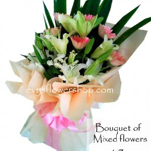 bouquet of mixed flowers 17, bouquet of mixed flowers, spring flowers, bouquet, flower delivery, flower delivery philippines
