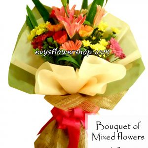 bouquet of mixed flowers 18, bouquet of mixed flowers, spring flowers, bouquet, flower delivery, flower delivery philippines