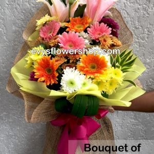 bouquet of mixed flowers 2, bouquet of mixed flowers, spring flowers, bouquet, flower delivery, flower delivery philippines