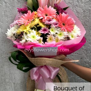 bouquet of mixed flowers 22, bouquet of mixed flowers, spring flowers, bouquet, flower delivery, flower delivery philippines